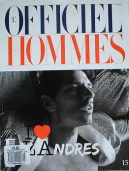 <!--2009-04-->L'Officiel Hommes (Paris) magazine - Andres Velencoso cover (Spring/Summer 2009)