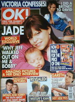 <!--2003-09-02-->OK! magazine - Jade Goody and Bobby cover (2 September 200