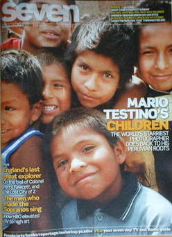 Seven magazine - Peruvian children cover (22 February 2009)