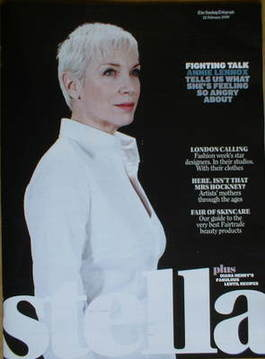 <!--2009-02-22-->Stella magazine - Annie Lennox cover (22 February 2009)