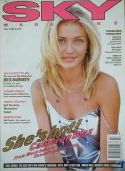 Sky magazine - Cameron Diaz cover (July 1995)