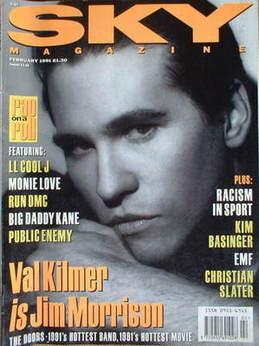 Sky magazine - Val Kilmer cover (February 1991)