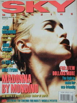 Sky magazine - Madonna cover (March 1991)
