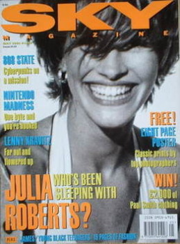 Sky magazine - Julia Roberts cover (May 1991)