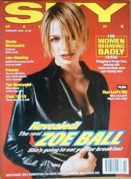 Sky magazine - Zoe Ball cover (February 1996)