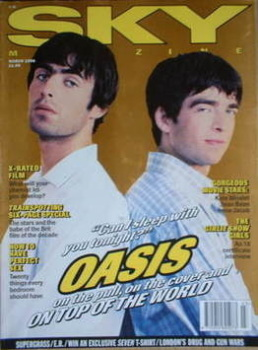 Sky magazine - Liam Gallagher and Noel Gallagher cover (March 1996)