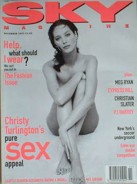 <!--1993-11-->Sky magazine - Christy Turlington cover (November 1993)