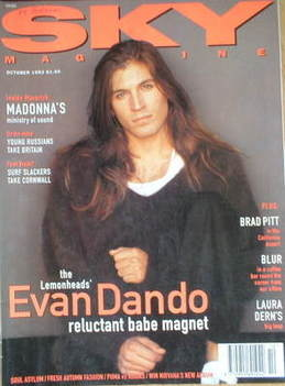 <!--1993-10-->Sky magazine - Evan Dando cover (October 1993)