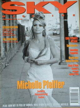 <!--1993-09-->Sky magazine - Michelle Pfeiffer cover (September 1993)