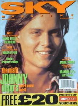 Sky magazine - Johnny Depp cover (July 1993)