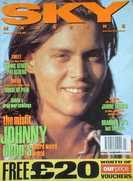 <!--1993-07-->Sky magazine - Johnny Depp cover (July 1993)