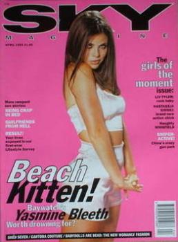 Sky magazine - Yasmine Bleeth cover (April 1995)