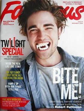 <!--2009-11-01-->Fabulous magazine - Robert Pattinson cover (1 November 200