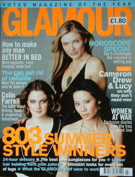 <!--2003-07-->Glamour magazine - Cameron Diaz, Drew Barrymore and Lucy Liu