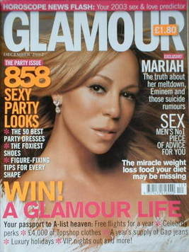 <!--2002-12-->Glamour magazine - Mariah Carey cover (December 2002)
