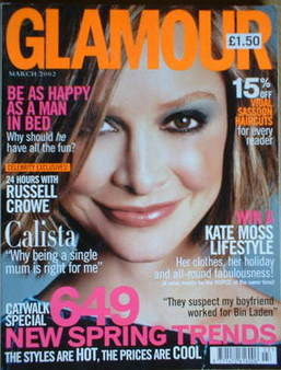 <!--2002-03-->Glamour magazine - Calista Flockhart cover (March 2002)