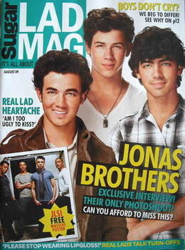 Lad magazine - The Jonas Brothers cover (August 2009)