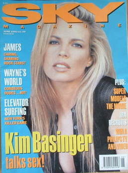 <!--1992-06-->Sky magazine - Kim Basinger cover (June 1992)