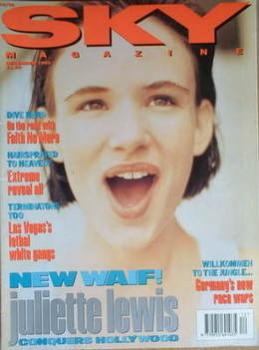 Sky magazine - Juliette Lewis cover (December 1992)