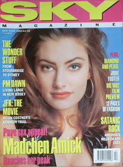 <!--1992-01-->Sky magazine - Madchen Amick cover (New Year 1992)