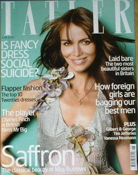 <!--2004-06-->Tatler magazine - June 2004 - Saffron Burrows cover