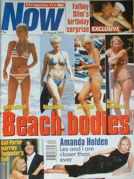 <!--2001-08-22-->Now magazine - Beach Bodies cover (22 August 2001)