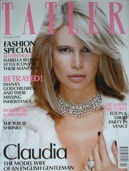 <!--2003-02-->Tatler magazine - February 2003 - Claudia Schiffer cover