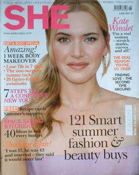 <!--2007-06-->She magazine (June 2007 - Kate Winslet cover)