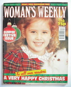 <!--1992-12-22-->Woman's Weekly magazine (22 December 1992)