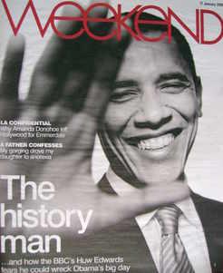 Weekend magazine - Barack Obama cover (17 January 2009)