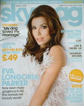 Sky TV magazine - March 2009 - Eva Longoria Parker cover
