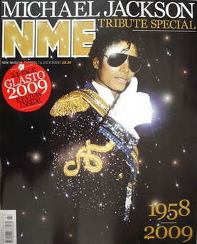<!--2009-07-04-->NME magazine - Michael Jackson cover (4 July 2009)