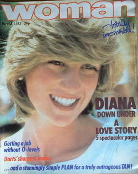 <!--1983-05-14-->Woman magazine - Princess Diana cover (14 May 1983)