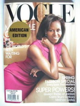 US Vogue magazine - March 2009 - Michelle Obama cover