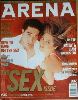 Arena magazine - January 1997/February 1997 - Jennifer Aniston and David Schwimmer cover