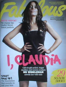 <!--2009-02-15-->Fabulous magazine - Claudia Winkleman cover (15 February 2