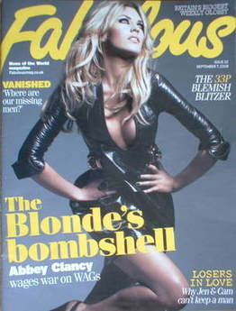 <!--2008-09-07-->Fabulous magazine - Abbey Clancy cover (7 September 2008)
