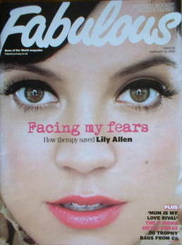 <!--2009-02-22-->Fabulous magazine - Lily Allen cover (22 February 2009)