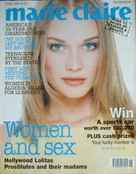 British Marie Claire magazine - June 1996 - Diane Heidkrueger cover
