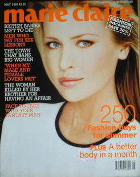 British Marie Claire magazine - May 1996 - Daniela Pestova cover
