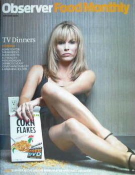 The Observer Food Monthly magazine - Amanda Holden cover (June 2009)