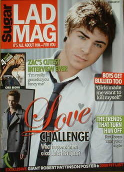Lad magazine - Zac Efron cover (February 2009)
