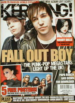 <!--2009-03-21-->Kerrang magazine - Fall Out Boy cover (21 March 2009 - Iss