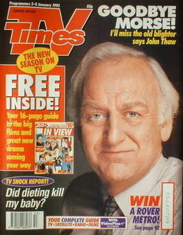 <!--1993-01-02-->TV Times magazine - John Thaw cover (2-8 January 1993)