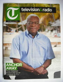 Television&Radio magazine - Sir Trevor McDonald cover (27 June 2009)