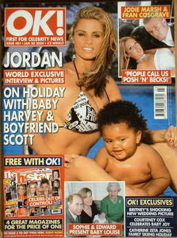 <!--2004-01-20-->OK! magazine - Jordan Katie Price and Harvey cover (20 Jan