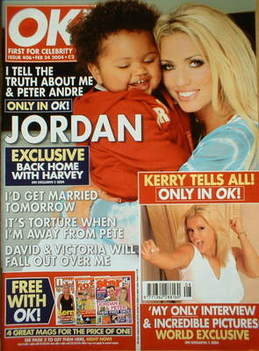 <!--2004-02-24-->OK! magazine - Jordan Katie Price and Harvey cover (24 Feb
