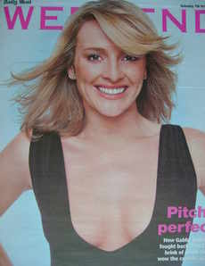 <!--2006-10-07-->Weekend magazine - Gabby Logan cover (7 October 2006)