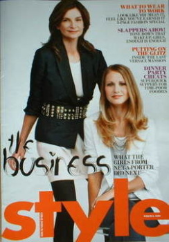 Style magazine - Natalie Massenet and Holli Rogers cover (8 March 2009)