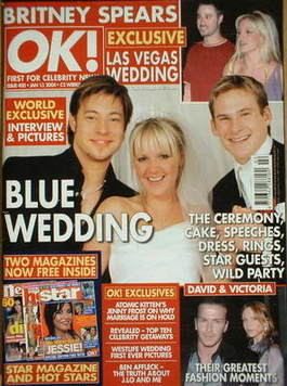 <!--2004-01-13-->OK! magazine - Duncan James, Gemma Ryan and Lee Ryan cover